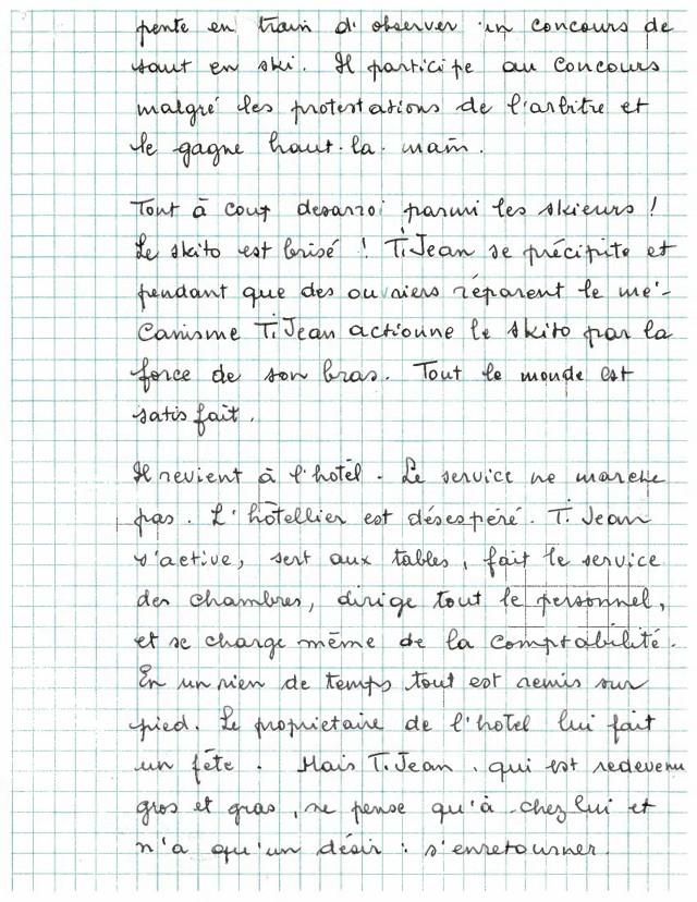 Scénario Ti-Jean aux sports d'hiver - page 3