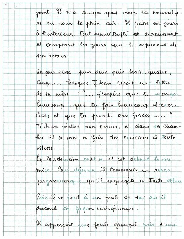 Scénario Ti-Jean aux sports d'hiver - page 2