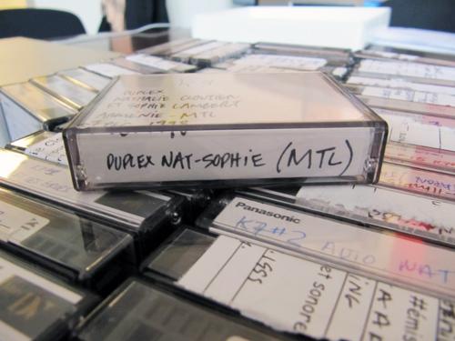 Cassettes de tournage de la Course destination monde appartenant à Nathalie Cloutier
