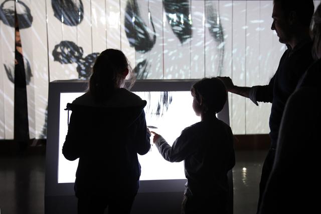 Écran tactile, Bla Bla installation à La Gaîté Lyrique à Paris