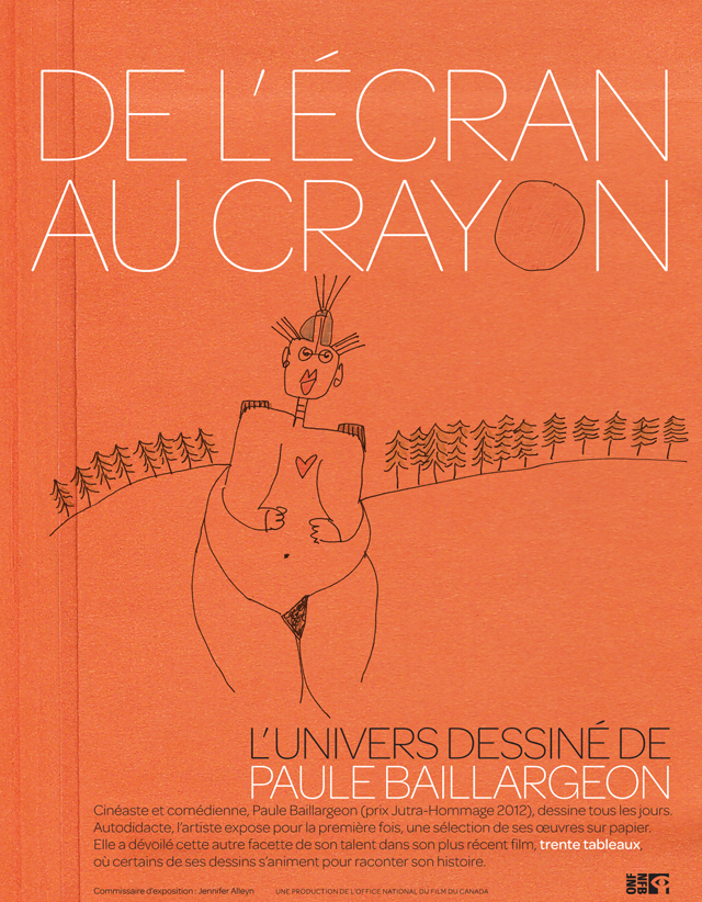 Affiche de l'exposition De l'écran au crayon