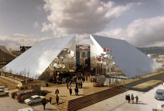 Le pavillon du Canada à l'expo universelle d'Osaka en 1970