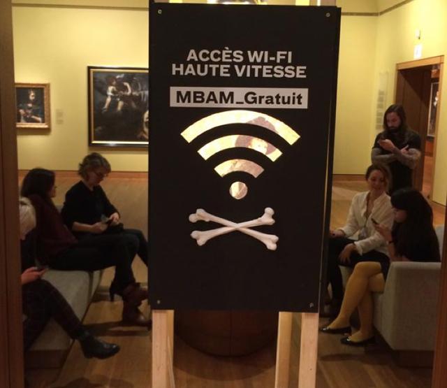 Leur prototype Museomix : WIFI gratuit au MBAM... mais à quel prix?