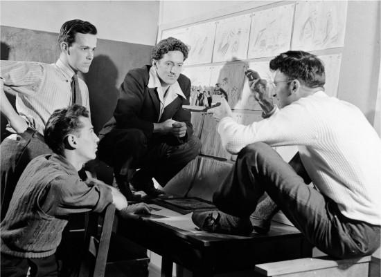 René Jodoin, George Dunning, Jim MacKay et Norman McLaren