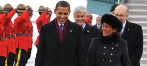 Michaelle Jean et Barack Obama