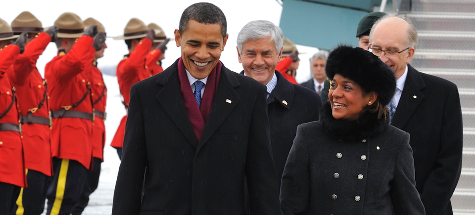 Michaelle Jean et Barack Obama