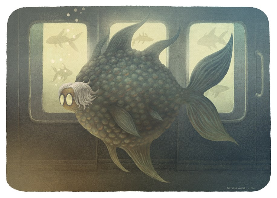 Illustration tirée des Voyages imaginaires de Franck Dion