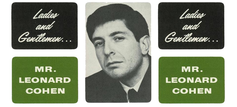 Je veux marier Leonard Cohen en 1965
