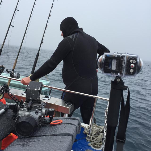 Tournage l'école des océans ONF équipement