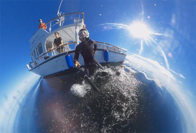 Tournage l'école des océans ONF Boris