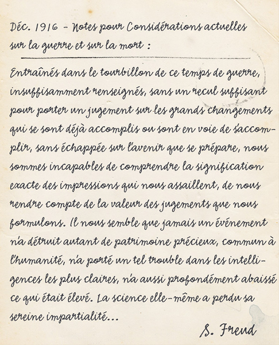 Journal de Rose - Freud