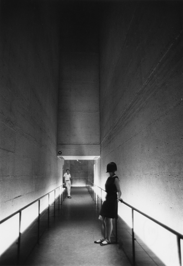 Inside the monumental Labyrinth Pavilion at Expo 67 Montreal