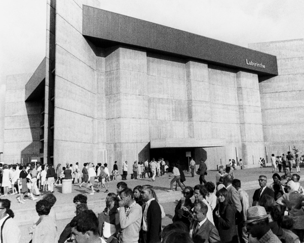 The Labyrinth Pavilion at Expo67 in Montreal